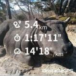 『【群馬百名山No.015】2021年は丑年なので牛伏山トレイルランで走り初め』の画像