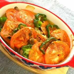 豆腐とトマトオーブン焼き