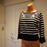 『KEITAMARUYAMA(ケイタマルヤマ)Bouquet embroidery border knit PO』の画像