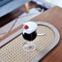 パフェ&アイスコーヒーに愛用の作家さんのグラス♪&手作りコーヒーゼリー♪