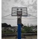 金属製のメッシュのバックボードが格好良いバスケ用ゴール!!