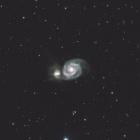 『りょうけん座の子持ち星雲(M51)』の画像