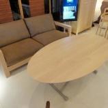 『【住賓館設定のセミオーダー】ハードメープル材のコージー昇降テーブル完成』の画像