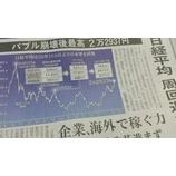 『日経平均 25年ぶりに!』の画像