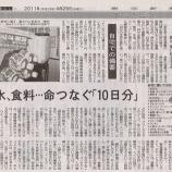 『(東京新聞)家族を守る 自宅での備蓄 水、食料・・・命つなぐ「10日分」』の画像