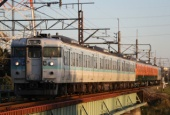 『2017/10/30運転 115系N38編成出場回送』の画像