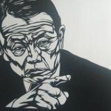 麻生太郎の切り絵作りました(画像あり)