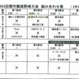 『関市職域野球対戦表』の画像