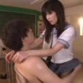巨乳ミニスカJK「 高橋しょう子」教室に二人っきりになってキス!美尻をパンツの上から割れ目を触り声をあげる美少女手コキフェラパイズリ立位挿入バック騎乗位
