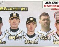 【阪神】熾烈な外野手レギュラー争い!掛布の注目は高山俊!!
