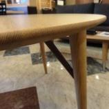 『【一・三惚れ市】 飛騨高山の日進木工のWHITE WOOD 1100丸テーブル』の画像