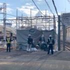 『【続報】取り壊し工事中の南海高野線・堺東駅の列車扱室の現況』の画像