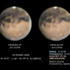 『火星最接近直前の10/3の火星~近内令一さん③&新製品 2020/10/07』の画像