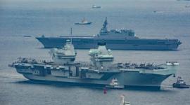 【軍事】遂に来た!英国の最新鋭空母「クイーン・エリザベス」初来日