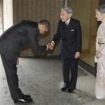 オバマ大統領、天皇陛下にお辞儀せず=「ぺこぺこしすぎ」と批判受けた過去が影響か
