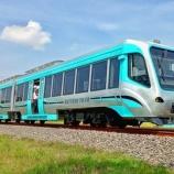 『国産架線レスLRT、KAI本線上で試運転(11月9日・10日)』の画像