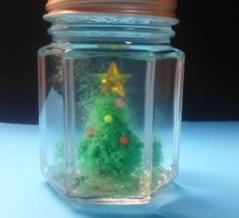 サンドアートの3Ðクリスマスツリー作り