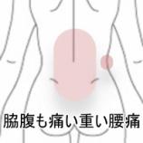 『ウォーターベッドで痛めた腰痛の症例報告です。』の画像