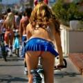 女性サイクリストのチラリズム画像 21枚