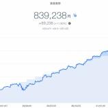 『【爆益!!】2021年3月2週目!THEO+docomoの資産運用状況は839,238円でした』の画像