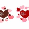 ハッピーバレンタインデーの文字が入ったハート素材