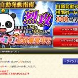 『日曜開始のキャンペーン(02月21日付)パンダ祭りや』の画像