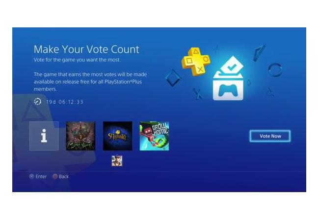 キミの1票が次の「フリープレイ」タイトルを決める!PS4にて開始