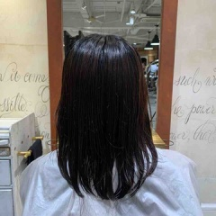 表参道 神宮前 東京都内で美髪パーマが得意な美容室ミンクス原宿 須永健次 2020年 伸ばし途中のミディアムに【毛先パーマ】をかけてみました。