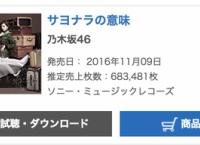 乃木坂46「サヨナラの意味」初日売上683,481枚!過去最高を記録