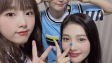 IZ*ONEチェ・イェナ、Red Velvetスルギ&ジョイとの3ショット公開