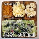 『食事方針。カロリー制限。レコーディングダイエット。サラダ、フルーツを取ろう』の画像