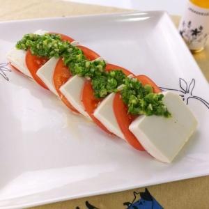 ヘルシーで簡単♪水切り豆腐のカプレーゼ風
