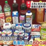 『【悲報】値上げとステルス値上げが相次ぐ日本!消費税増税もダメ押しで日本の家計悪化は確実に・・・』の画像