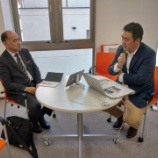 『釧路新聞社の星さんご来所 今後の経営戦略についてディスッションさせていただきました!』の画像