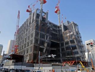 高さ265.75m「虎ノ門ヒルズ ステーションタワー」の建設状況(2021.10.8)