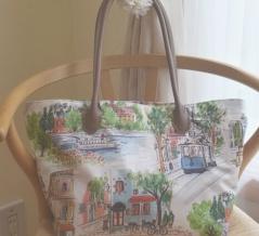 【ホビーラホビーレ】シンプルトートバッグを手作り♪ストックホルムの街並み💛