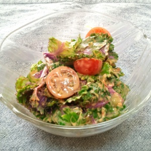 プチヴェールのピリ辛サラダ