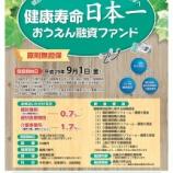 『健康寿命日本一 大分県おうえん融資ファンドのご案内』の画像