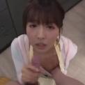 激カワ国民的アイドルが僕の彼女「三上悠亜」主観!朝起きたら激カワ彼女がキッチンに!勃起ち○こを触ってもらい巨乳スレンダーでかわいい彼女のご奉仕フェラしてもらう