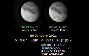 『近内令一先生による2021年1月~4月の火星 2021/04/14』の画像
