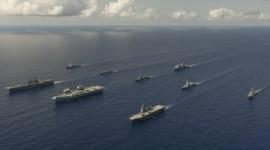 【軍事】日米英蘭が沖縄南方で共同訓練、中国共産党政権の軍事的覇権拡大を牽制…英空母は韓国入港を急きょ取りやめwwwww