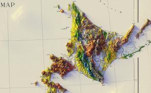外国人が3D化した日本の地質図