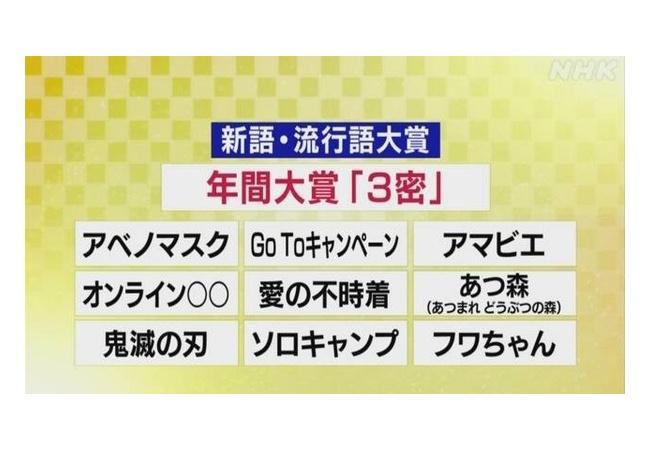 【朗報】新語・流行語大賞、『鬼滅・あつ森』が受賞!!
