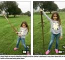7歳の少女が、湖から伝説の剣「エクスカリバー」を偶然発見