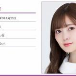 『白石麻衣 明日15日の『めざましテレビ』に出演する模様!』の画像