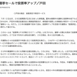 『選挙セールで投票率アップ(戸田市の商店会連合会と商業協同組合)』の画像
