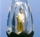 水晶の中に阿弥陀如来像 鎌倉時代に作られた? 初公開
