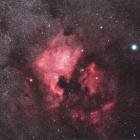 『シグマ150mmF2.8による北アメリカ星雲&ペリカン星雲コラボ』の画像