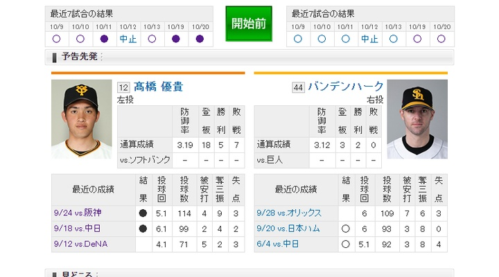 【 巨人実況!】日本シリーズ第3戦!vs ソフトバンク![10/22] 先発は高橋優貴!捕手は大城!