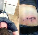 数学の試験で落第した男子学生(19)、尻に「2次方程式の解の公式」のタトゥーを彫る